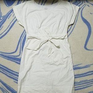 Anthropologie HD white pocket dress
